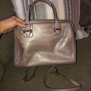Metallic purple Coach purse